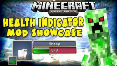 Health & Damage Indicator Minecraft PE Mod 1.1.1, 1.1.0, 1.0.9