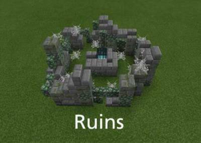Instant Structure Mod For Minecraft PE 1.1.0, 1.0.6, 1.0.5, 1.0.0