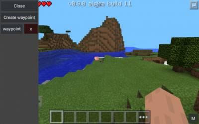 Waypoints Minecraft PE Mod For Android 1.1.0, 1.0.9, 1.0.8, 1.0.7