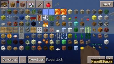 Too Many Items Mod For Minecraft PE Android 1.1.0, 1.0.6, 1.0.5