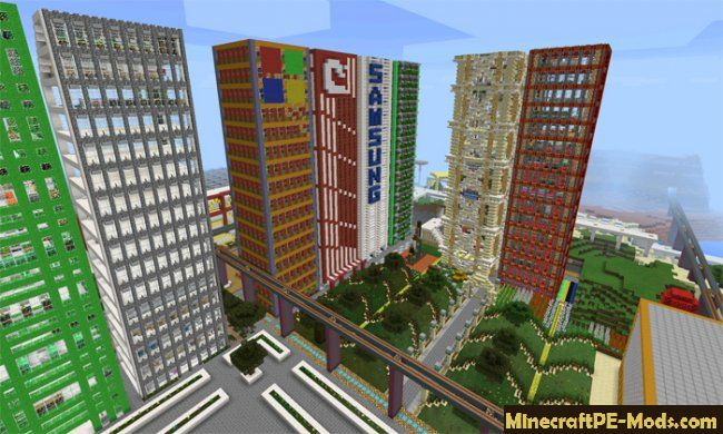 Egaland City Map For Minecraft PE iOS, Android 1 12 0, 1 11
