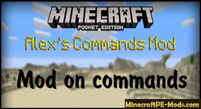 Alex's Commands Mod For Minecraft PE 1.2.6.60, 1.2.6, 1.2.5