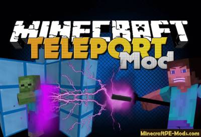 Warp Mod For Minecraft PE 1.1.0, 1.0.6, 1.0.5, 1.0.4, 1.0.0