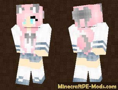 Girl From Anime Skin For Minecraft PE - Skin para minecraft or