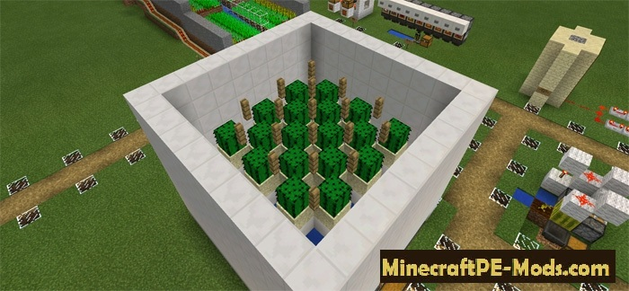 8 Automatic Farms Redstone Map For Minecraft Pe 1 12 0