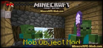Mob Object Mod For Minecraft PE