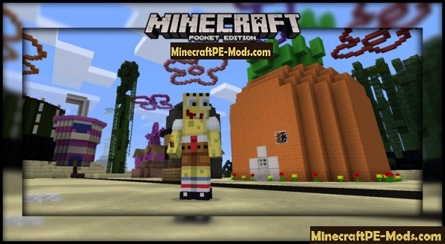 Bikini Bottom (SpongeBob) Map For Minecraft PE 1.1.3, 1.1.2, 1.1.1 ...