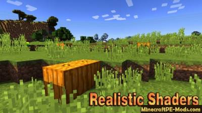 Realistic Shaders For Minecraft PE 1.5.0, 1.4.0, 1.3.0, 1.2.13