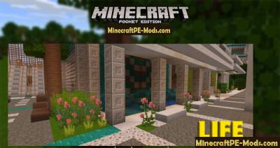 LIFE HD Texture / Resource Pack For Minecraft PE 1.2.9, 1.2.8, 1.2.7