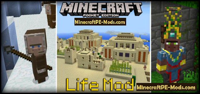 Life Mod For Minecraft PE 1.5.3, 1.5.2, 1.4.4 Download