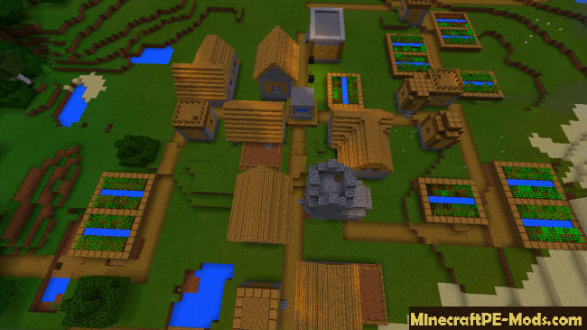 Two Villages With Blacksmith Seed MCPE 1 13 0, 1 12 0, 1 11 4