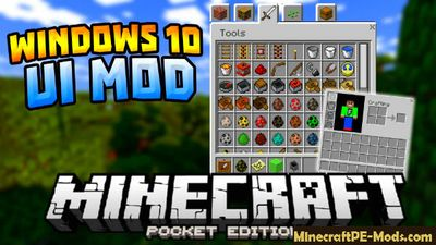 PC GUI Mod For MCPE 1.1, 1.0.9, 1.0.8 iOS, Android, Windows 10