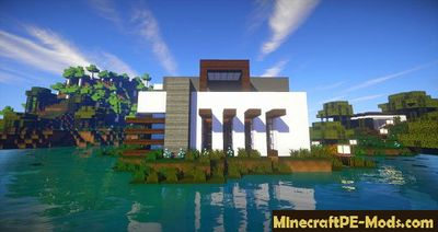 Flows HD For Modern Buildings MCPE Texture Pack 1.2.0, 1.1.5