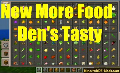 New More Food Minecraft PE Mod 1.2.9, 1.2.8, 1.2.7, 1.2.6