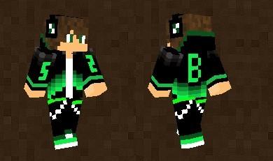 Boy In BlackGreen Suit Skin For Minecraft PE - Skins para minecraft pe 0 15