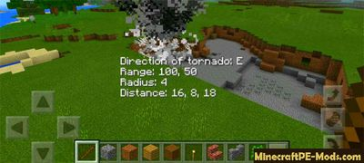 Tornado Mod For Minecraft PE 1.2.3, 1.2.2, 1.2.1, 1.2.0