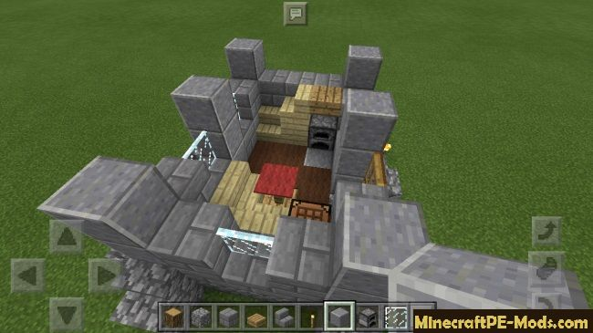 medieval house minecraft pe download