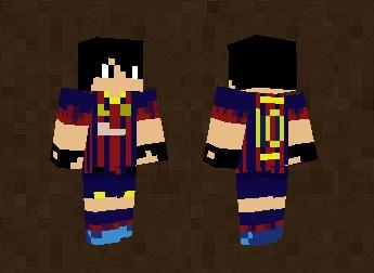 Lionel Messi Skin For Minecraft PE - Skin para minecraft pe