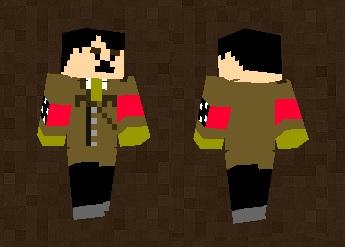 Hitler Funny Skin For Minecraft PE - Skins para minecraft pe hitler