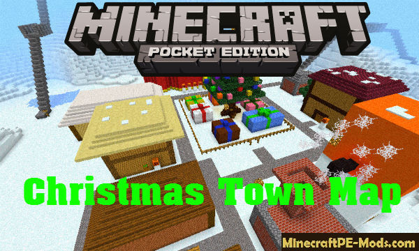Minecraft Christmas Map.Christmas Town Creation Map For Minecraft Pe 1 13 0 1 12 1