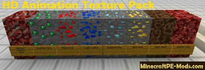 HD Animation Texture Pack For Minecraft PE 1.2.0, 1.1.5, 1.1.4