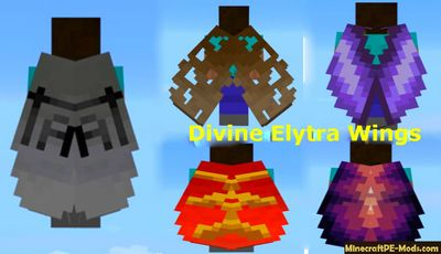 Divine Elytra Wings Texture Pack For MCPE 1.2.0, 1.1.5, 1.1.4, 1.1.0