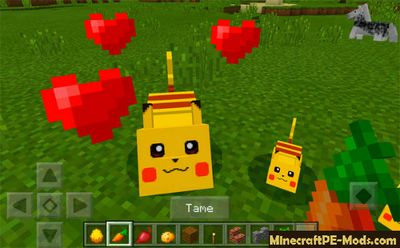 Pikachu With Powers Mod For MCPE 1.2.0, 1.1.5, 1.1.4, 1.1.0