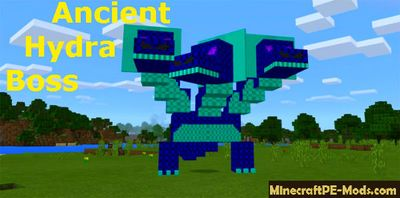 Ancient Hydra Boss Mod For Minecraft PE 1.2.0, 1.1.5, 1.1.4
