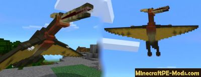 Flying Dinosaurs Mod For Minecraft PE 1.2.0, 1.1.5, 1.1.4, 1.1.3