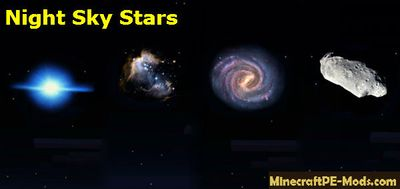 Night Sky Stars Texture Pack For Minecraft PE 1.2.0, 1.1.5, 1.1.4