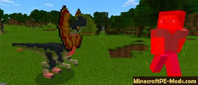 Enemy Dinosaurs Mod For Minecraft PE 1.2.0, 1.1.5, 1.1.4
