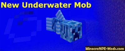 New Underwater Mobs Mod For Minecraft PE 1.2.0, 1.1.5, 1.1.4