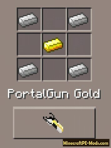 Portal Gun 2 Mod For Minecraft PE 1.2.0, 1.1.5, 1.1.4, 1.0.0