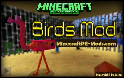 Birds Minecraft PE Mod For Android 1.1.0, 1.0.6, 1.0.5, 1.0.4, 1.0.0