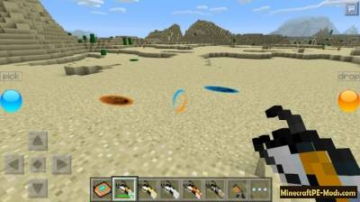 Portal Gun 2 Mod For Minecraft PE 1.2.7, 1.2.6, 1.2.5, 1.2.3