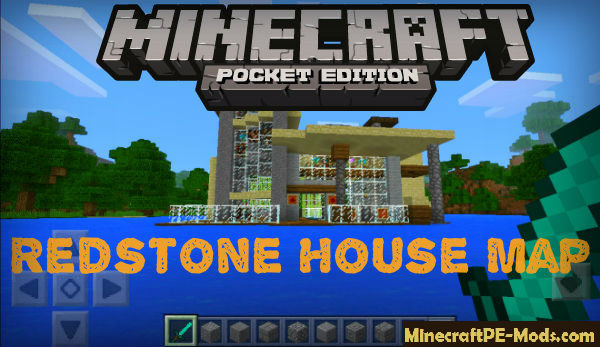 Redstone House Map For Minecraft PE 1 12 0, 1 11 4, 1 11 1 Download