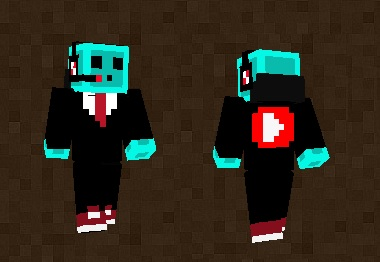 Serious Slime Youtuber Skin For Minecraft PE - Skin para minecraft pe