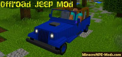 Offroad Jeep Mod For Minecraft PE 1.5.1, 1.5.0, 1.4.4