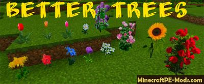 Better Trees Texture Pack For Minecraft PE 1.2.0, 1.1.5, 1.1.4