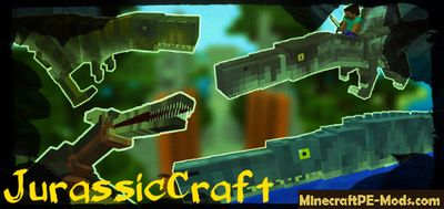 JurassicCraft Pack Mod For Minecraft PE 1.2.9, 1.2.8, 1.2.7