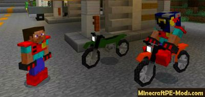 Sport Bikes Mod For Minecraft PE 1.2.0, 1.1.5, 1.1.4, 1.1.0