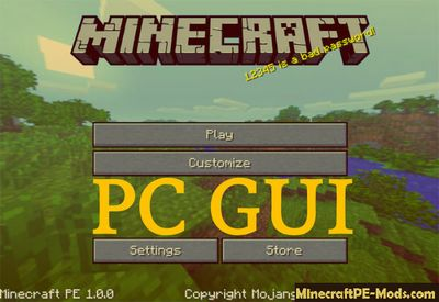 PC GUI Texture Pack For Minecraft PE 1.2.0, 1.1.5, 1.1.4, 1.1.0