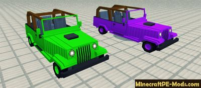 Offroad Jeep Mod For Minecraft PE 1.2.0, 1.1.5, 1.1.4, 1.1.0