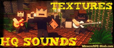 New HQ Sounds Texture / Resource Pack For Minecraft PE 1.2.0