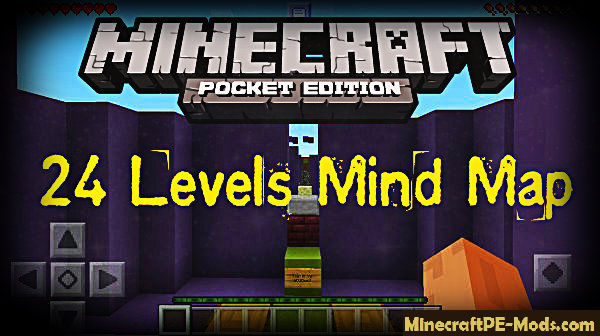 24 Levels Mind Puzzle Map For Minecraft PE 1 12 0, 1 11 4