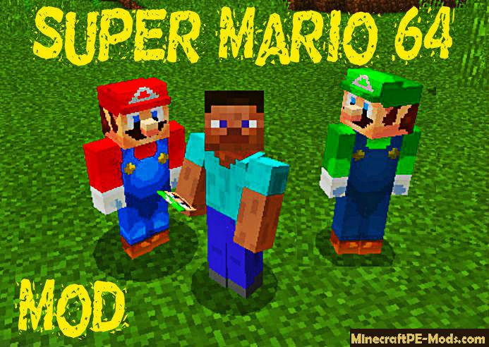 Super Mario 64 Minecraft PE Mod / Addon iOS, Android 1.11 ...