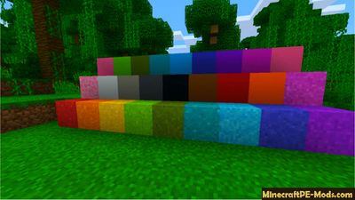 Solid Color Blocks Minecraft PE Texture Pack 1.2.0, 1.1.5, 1.1.4