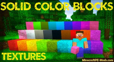 Solid Color Blocks Minecraft PE Texture Pack 1.1, 1.1.0.0, 1.0.5, 1.0.