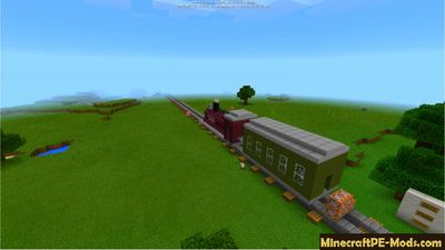 Vehicle Train Minecraft PE Command Block Map