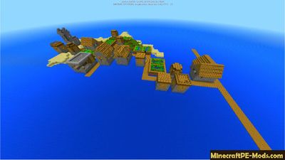 Ocean Fortress Village Minecraft PE Seed